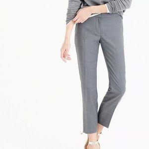 Jcrew Paley Pant in Super 120s Wool in BLACK